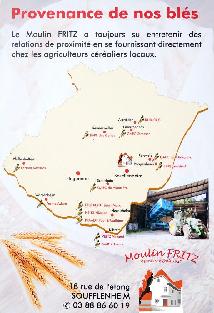 Fournisseurs Blés Moulin Fritz