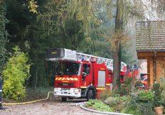 Manoeuvre des pompiers de Soufflenheim au Moulin Fritz