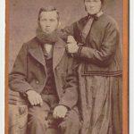 Théophile Schneider, qui a fondé le moulin en 1839, et sa soeur Suzanne Schneider, épouse Fritz.