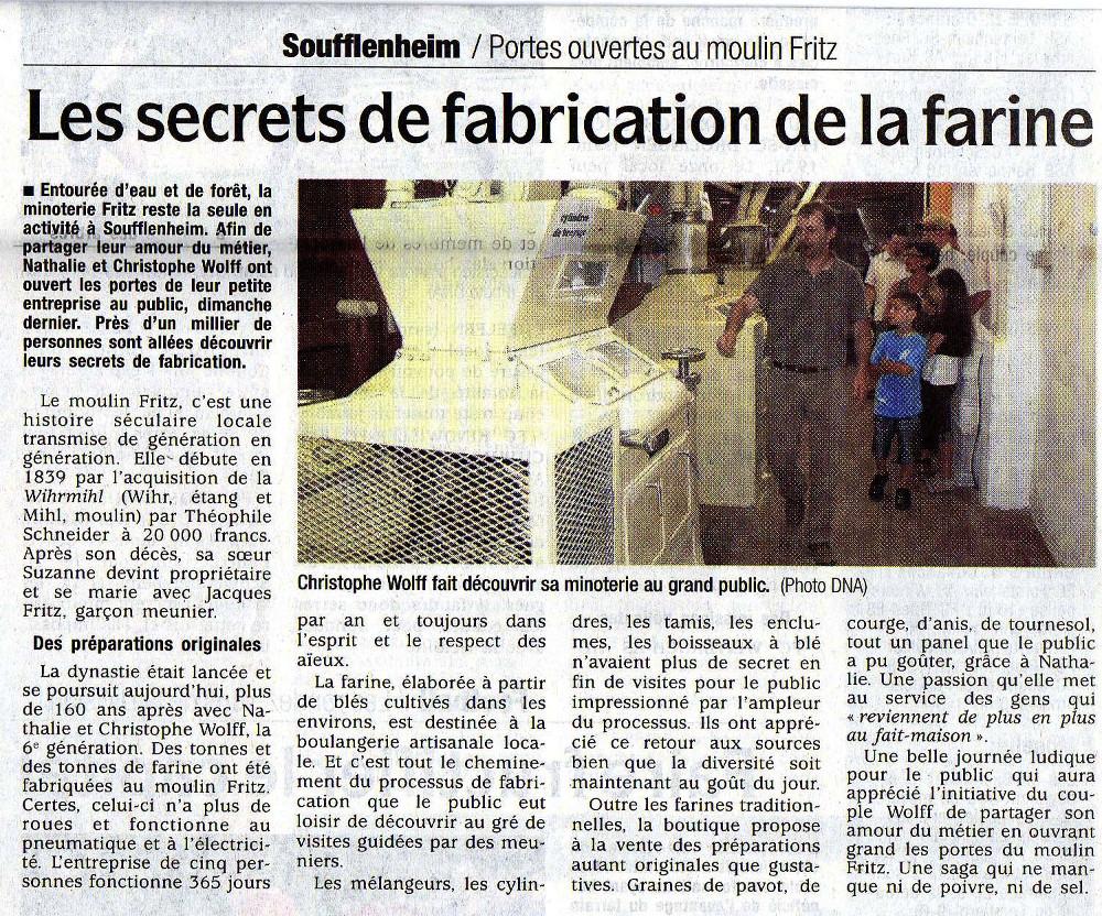 Les secrets de fabrication de la farine
