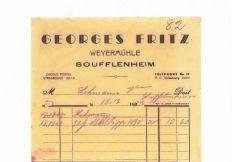 Facture Moulin Fritz années 1940