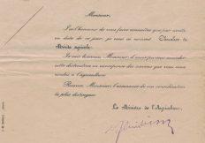 Nomination de Georges Fritz comme Chevalier du Mérite Agricole, 1949