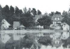 Le moulin Fritz et son étang, dans les années 50